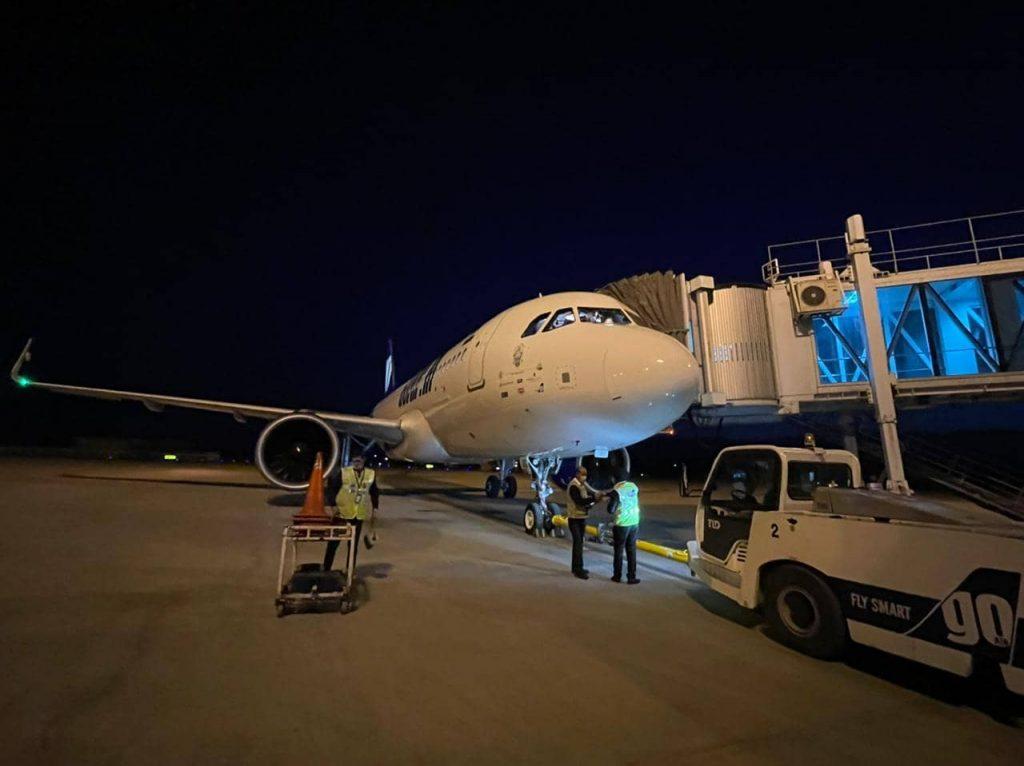 First Delhi bound night flight took off from Srinagar Airport successfully