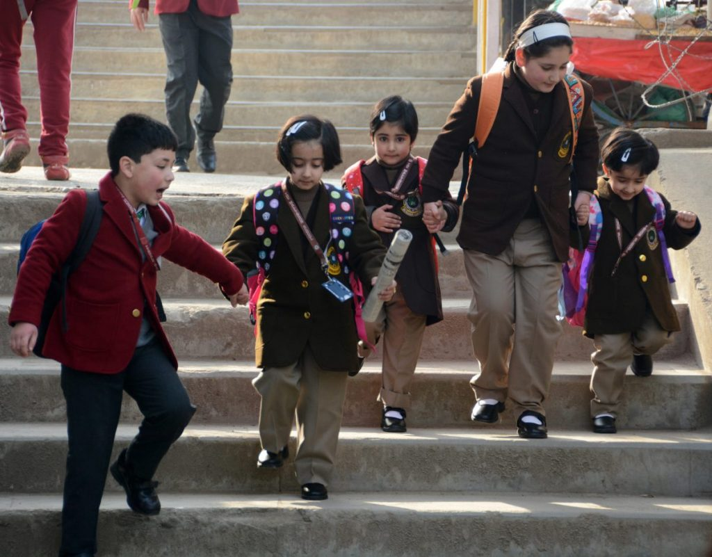After two years of lockdown children from across the Kashmir Valley started returning to schools