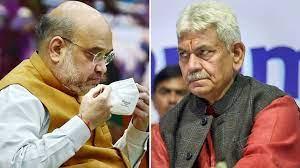 LG Manoj Sinha's meet with Amit Shah and AK Bhalla in Delhi trigger speculations in Kashmir