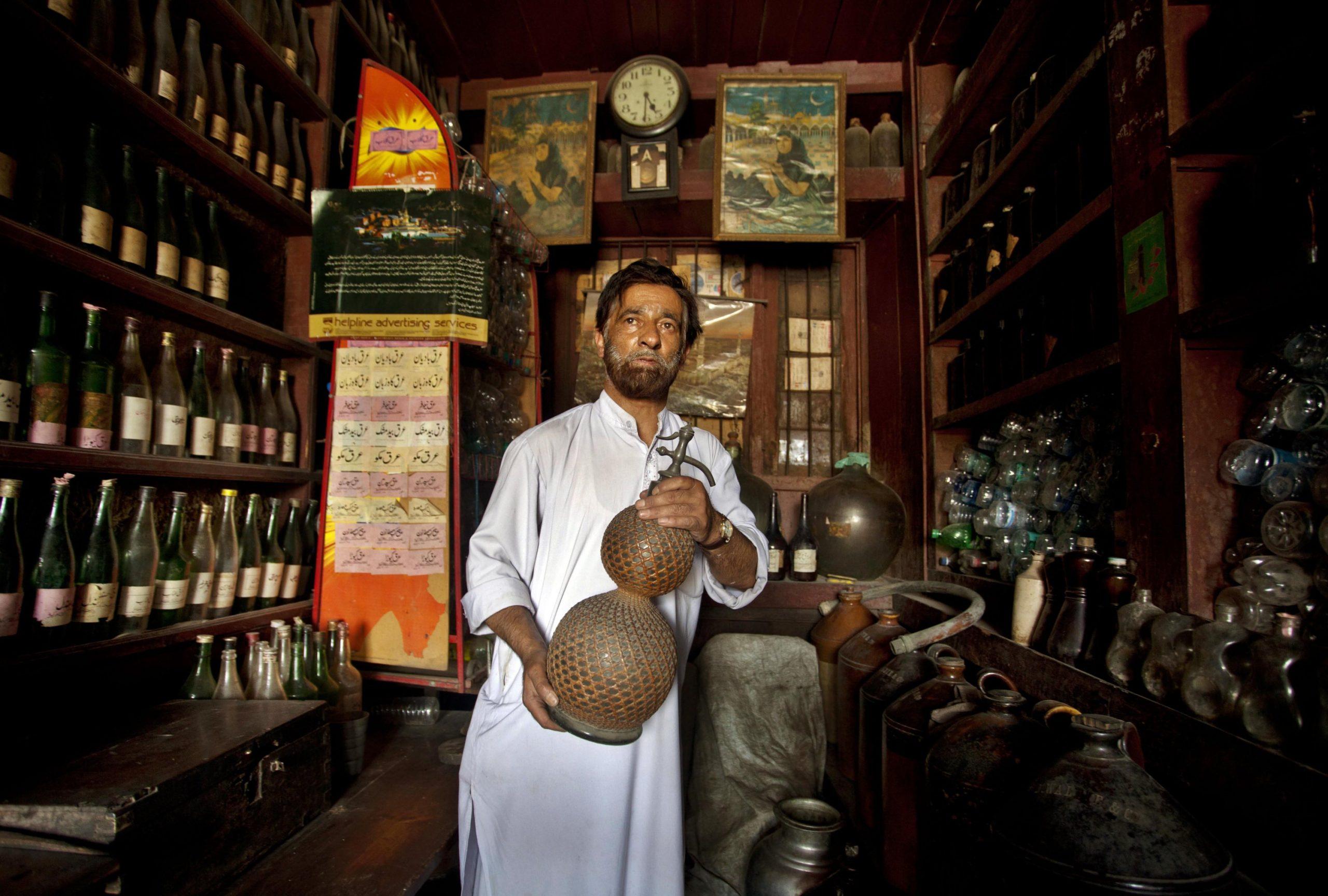 Kashmir's lone rose water maker Abdul Aziz Kozgar, scents uncertain future